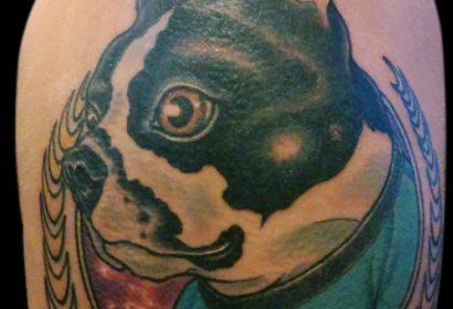 spock dog tattoo by Jake B