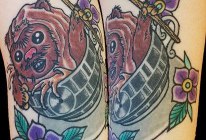 Teacup Ewok tattoo