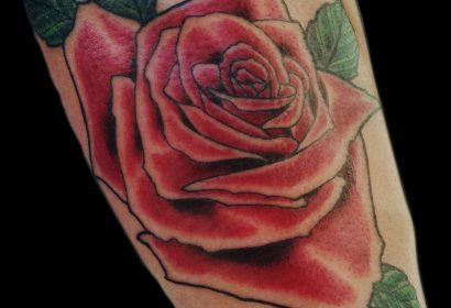 red rose tattoo by Jake B