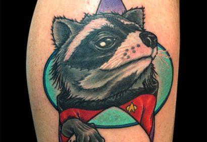 Ryker Raccoon tattoo by Jake B