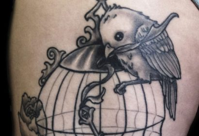 birdcage tattoo by Jake B