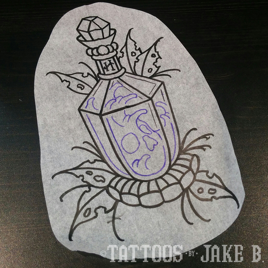 Harry Potter Potion Tattoo Tattoos By Jake B