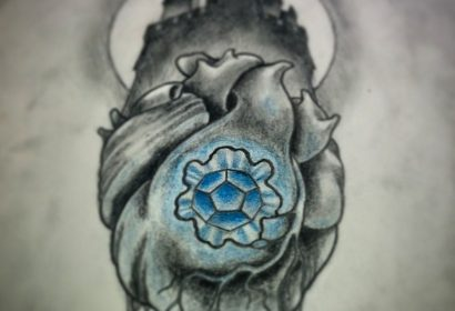 Heart Castle tattoo