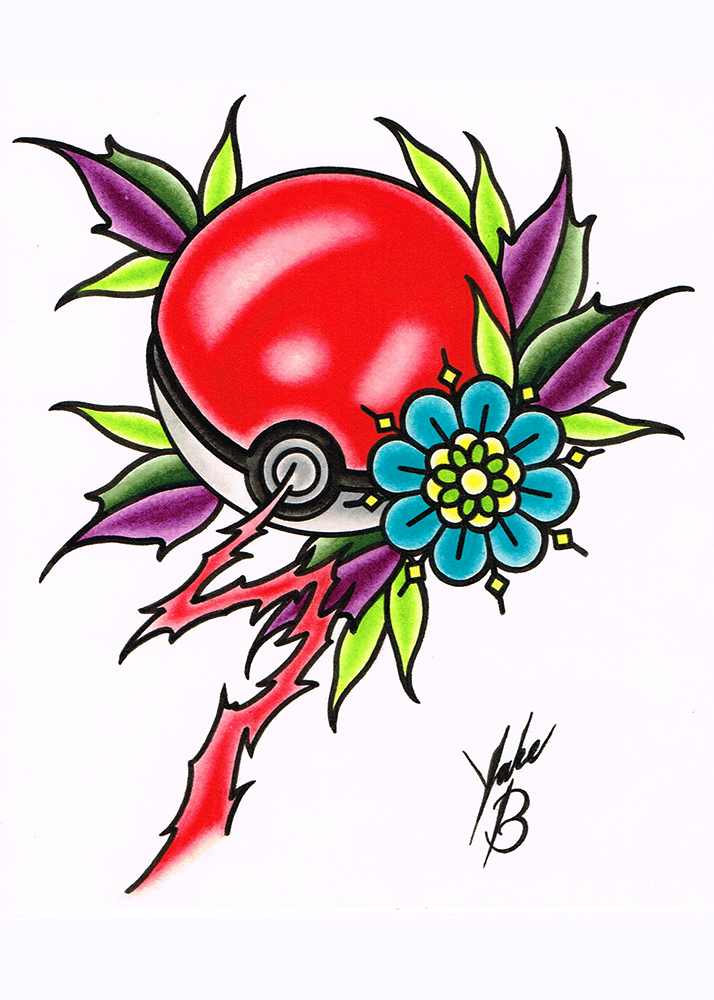 pokemon pokeball print