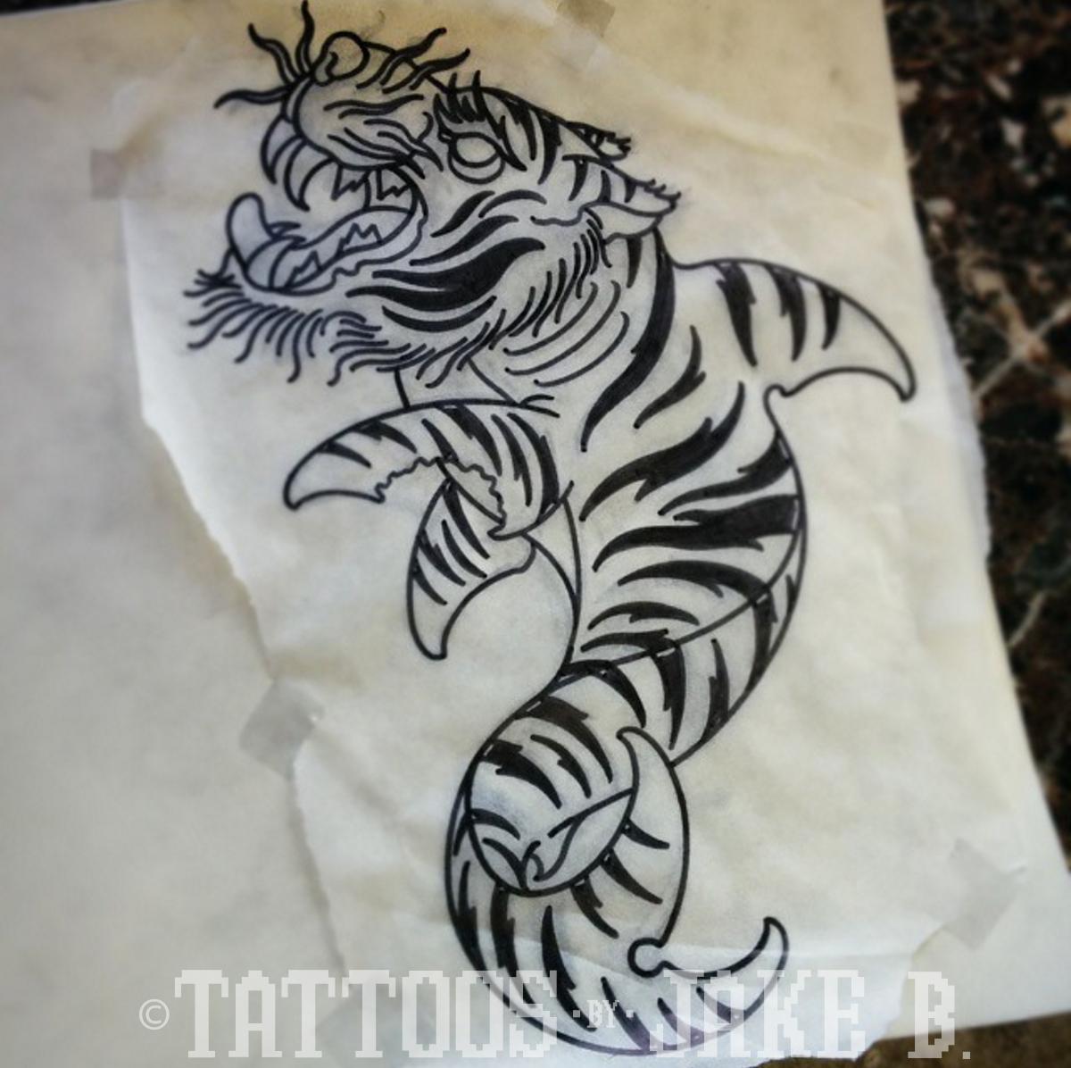 tiger shark tattoo