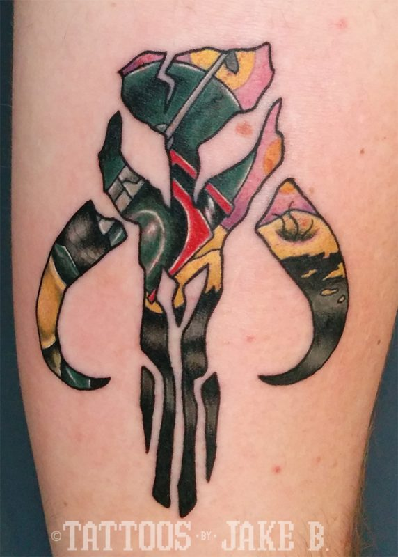 Star Wars Boba Fett Mandalorian Tattoo Tattoos By Jake B