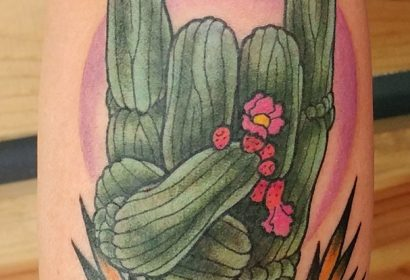 rocker cactus tattoo