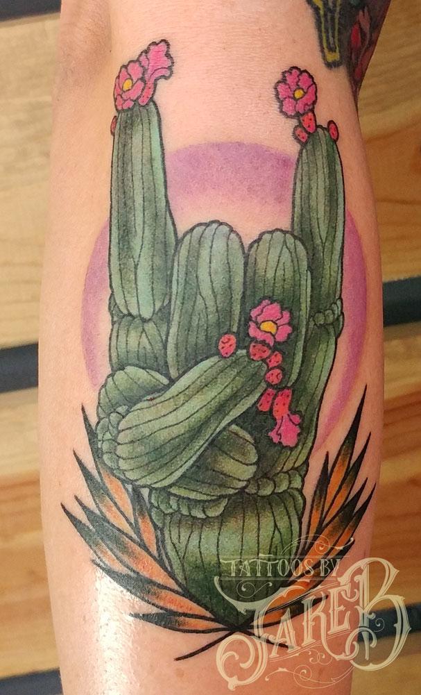 rocker cactus tattoo