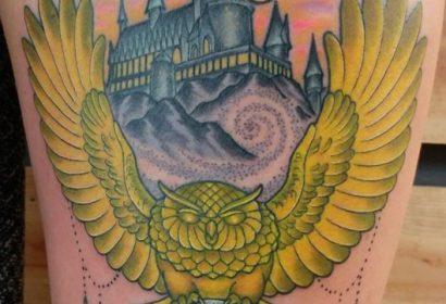 harry potter hogwarts tattoo by Jake B