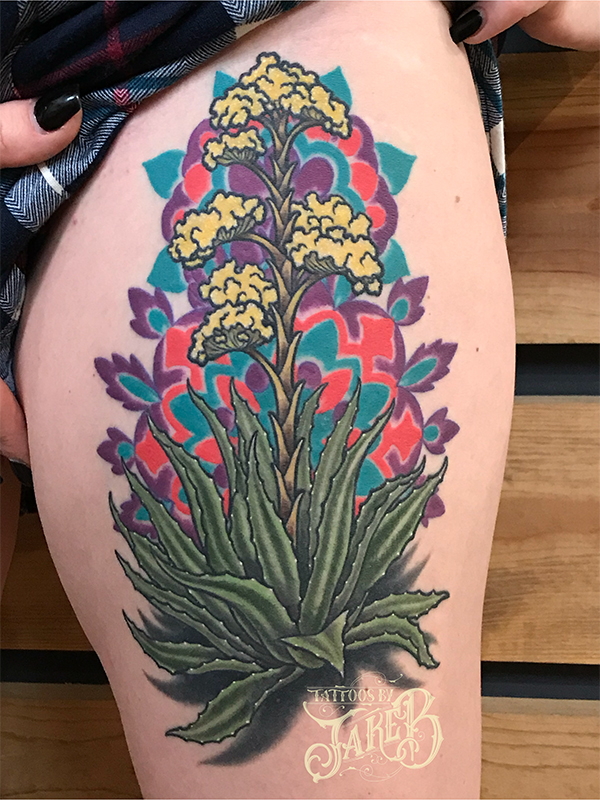 century plant tattoo by jake b
