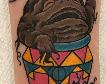 Harry Potter Mandrake tattoo by Jake B