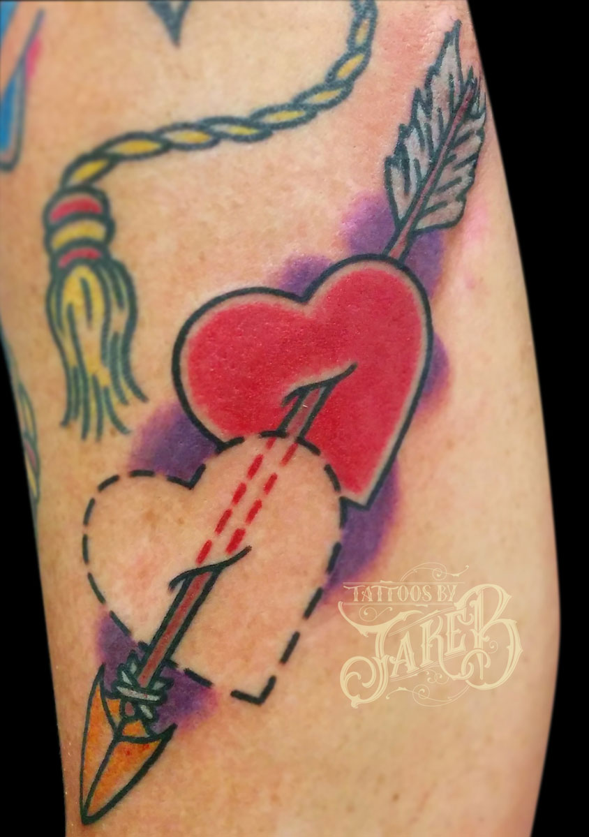 heart and arrow tattoo