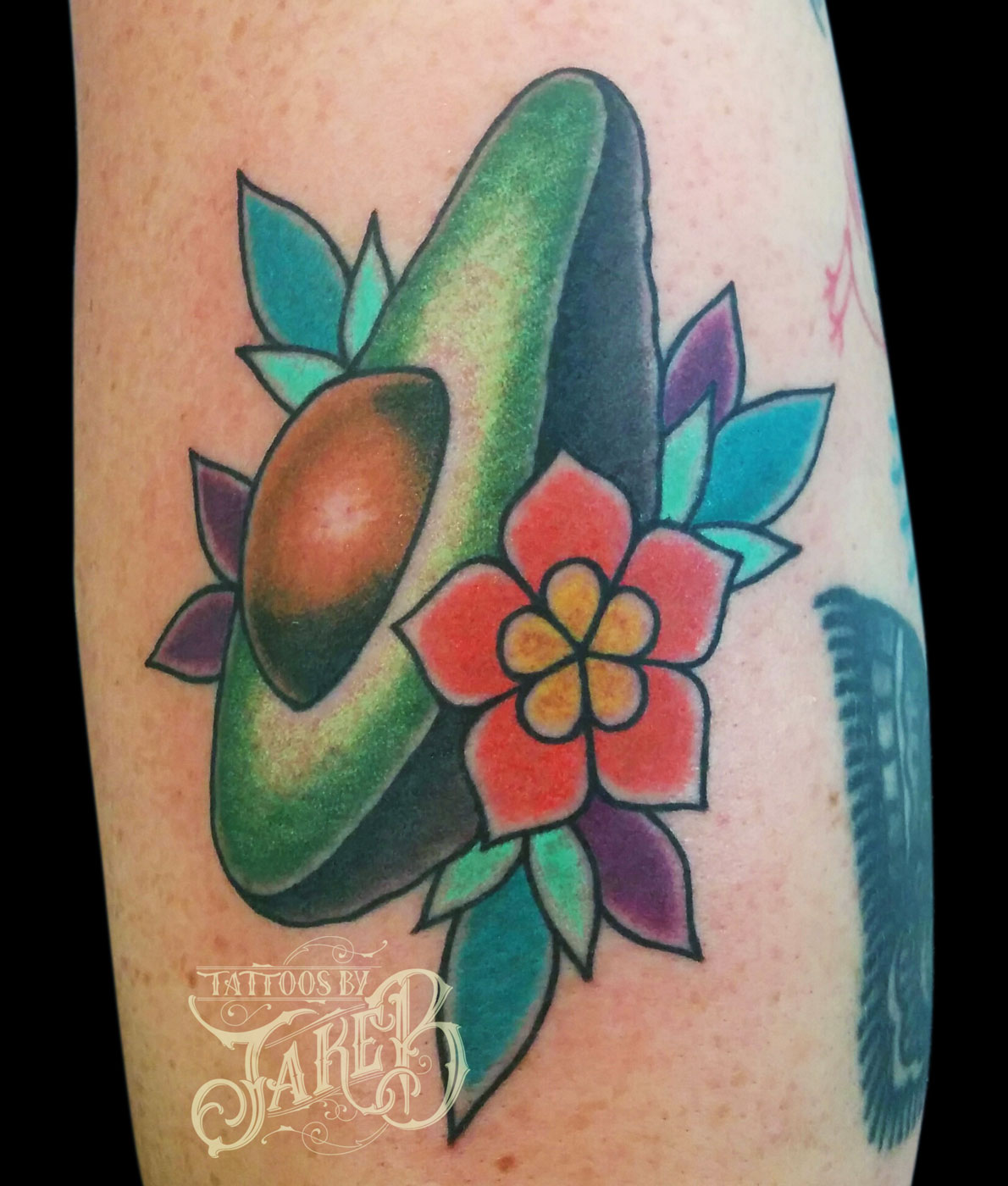 traditional avocado tattoo