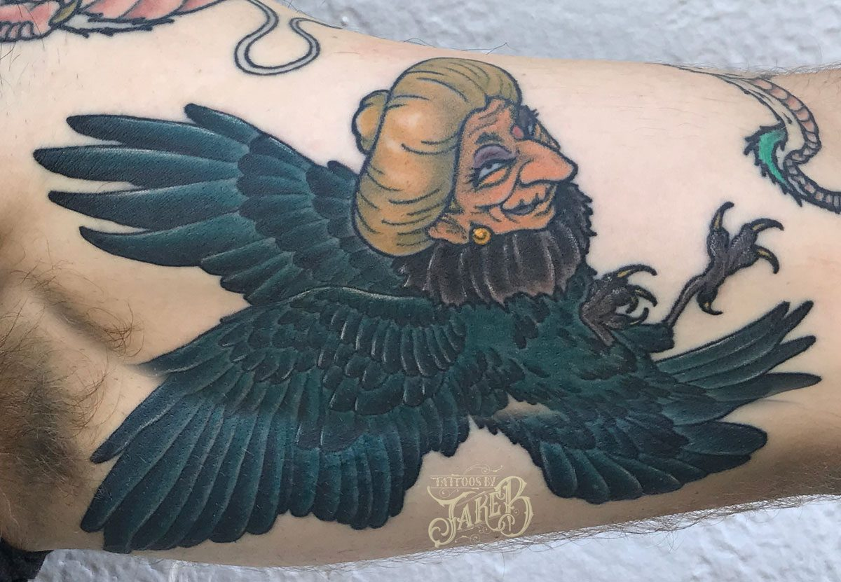 spirited away baba bird tattoo