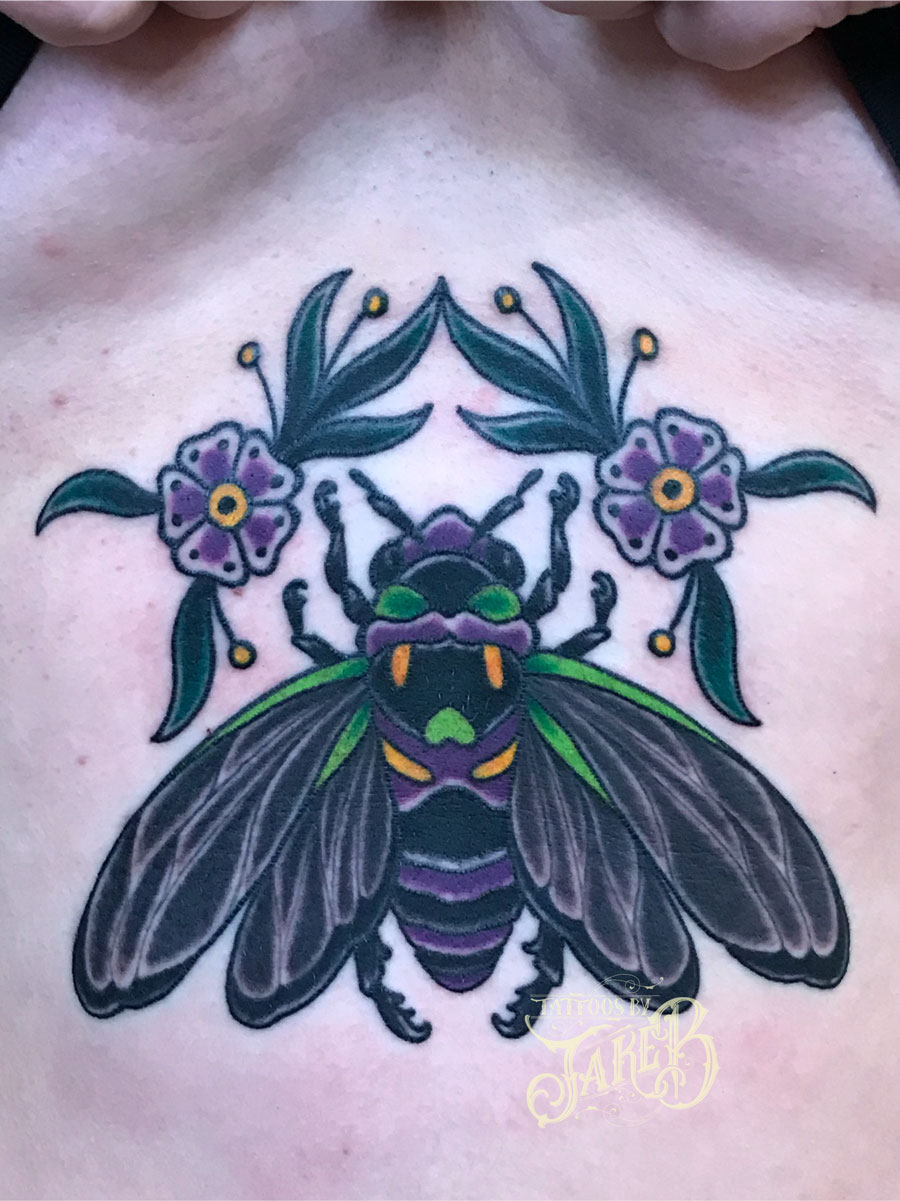 traditional cicada tattoo