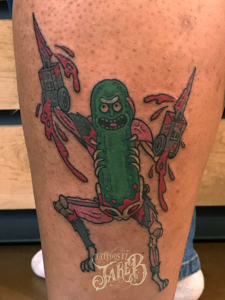 rick and morty pickle rick tattoo
